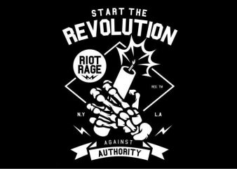 Start The Revolution t shirt template vector