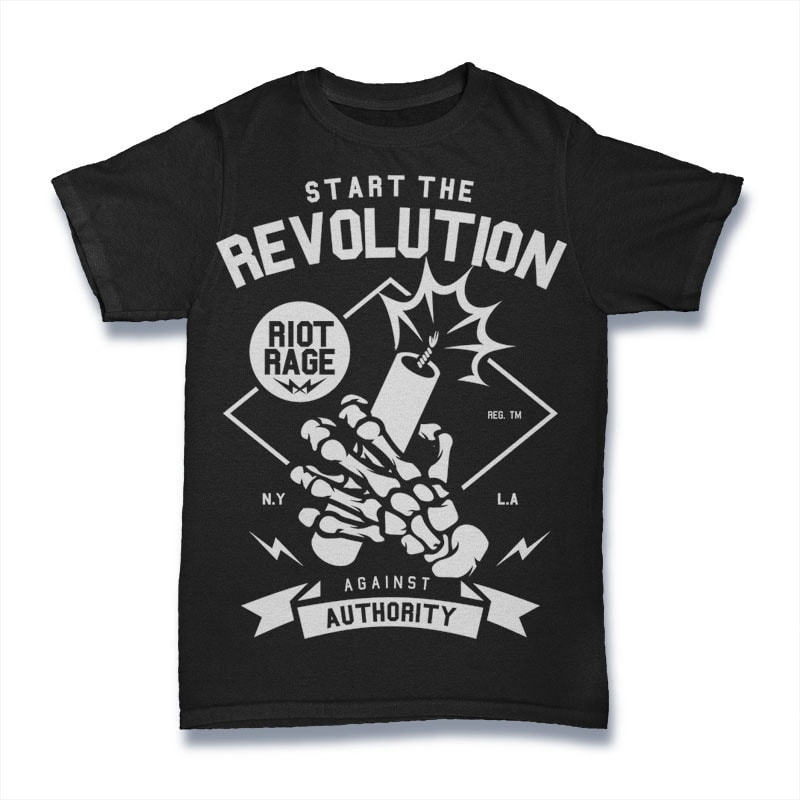 Start The Revolution vector t shirt design