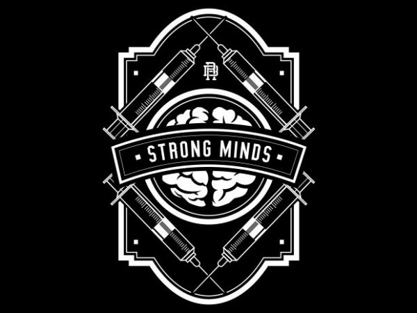 Strong Minds t shirt template vector