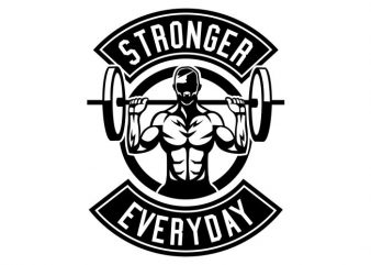 Stronger Everyday buy t shirt design for commercial use