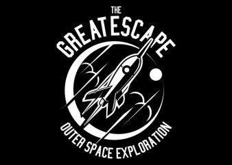 The Great Escape vector t shirt design artwork