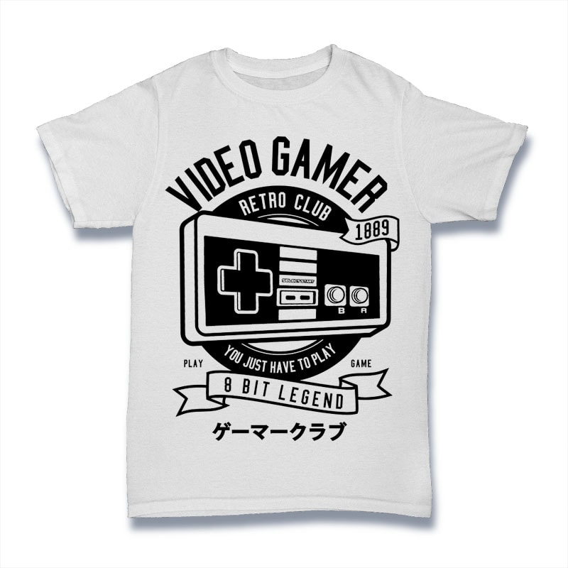 Video Gamer buy t shirt designs artwork