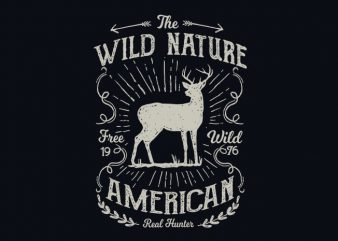 Wild Nature vector t shirt design