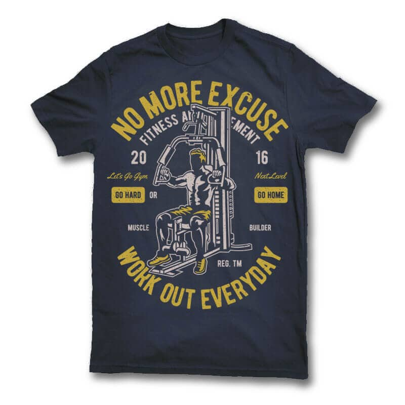 Work Out Everyday vector t shirt design tshirt-factory.com
