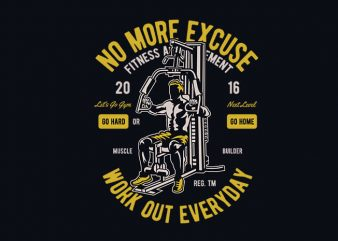 Work Out Everyday vector t shirt design