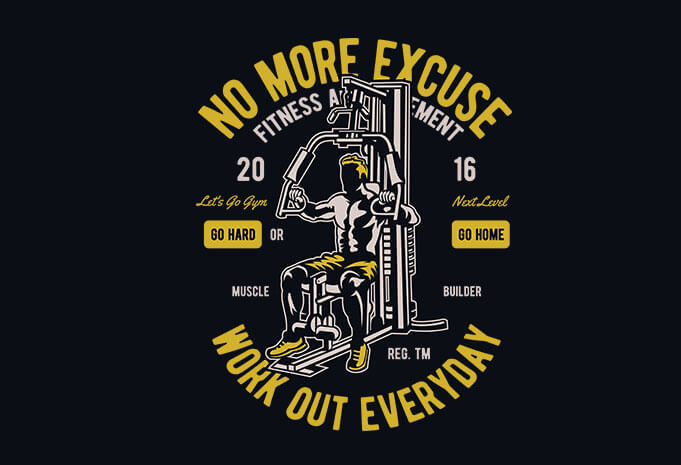 Work Out Everyday Vector T Shirt Design   Work Out Everyday Vector T Shirt  Design Buy
