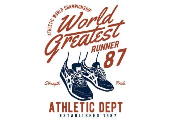 World Greatest Runner vector t-shirt design for commercial use