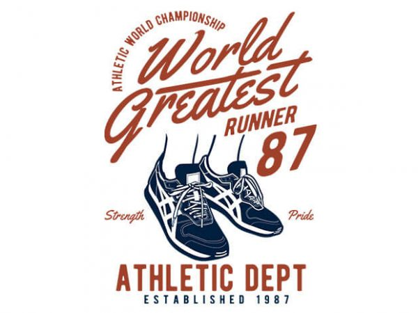 World Greatest Runner vector t shirt design 600x450 - World Greatest Runner buy t shirt design