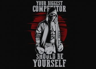 Your Biggest Competitor vector t shirt design artwork