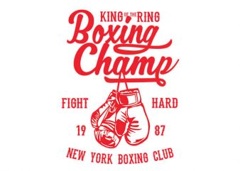 Boxing Champ t shirt design