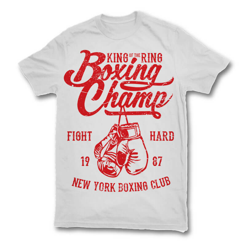 Boxing champ t shirt design buy t shirt designs for Website where you can design your own shirt