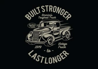 Built Stronger t shirt design