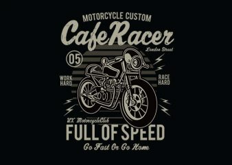 Cafe Racer t shirt design