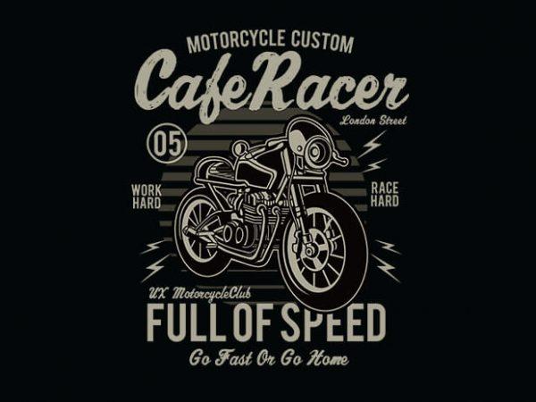 Cafe Racer t shirt design