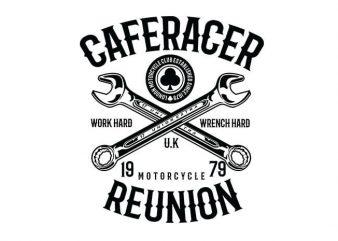 Caferacer Reunion t shirt design