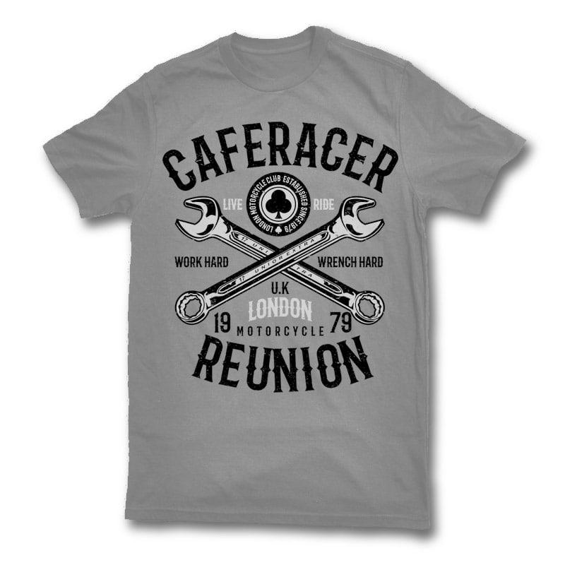 Caferacer reunion t shirt design buy t shirt designs for Buy t shirt designs online