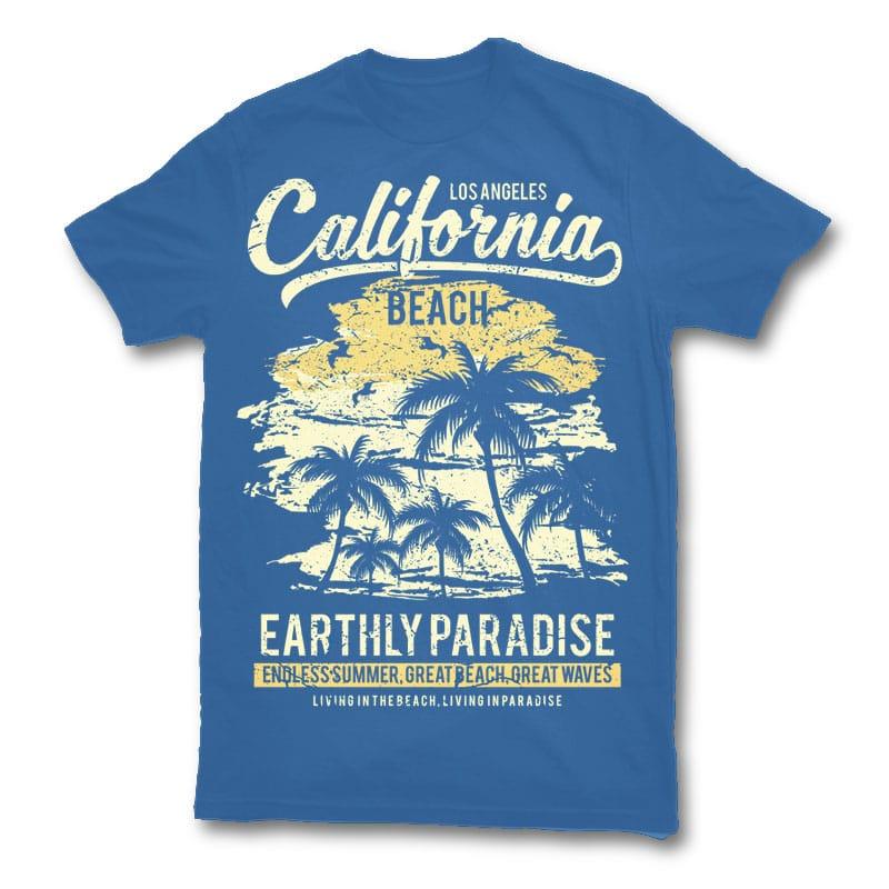 California Beach t shirt design tshirt factory