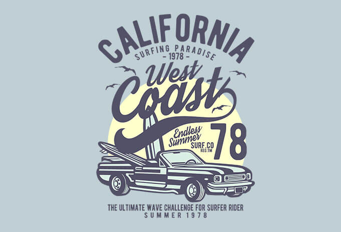 california west coast t shirt design buy t shirt designs