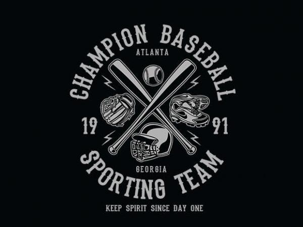 Champion Baseball 600x450 - Champion Baseball t shirt design buy t shirt design