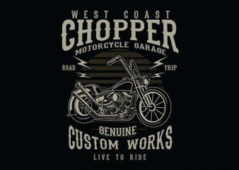 Chopper t shirt design