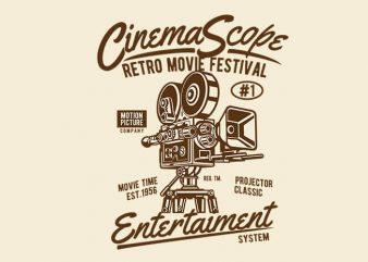 Cinema Scope t shirt design