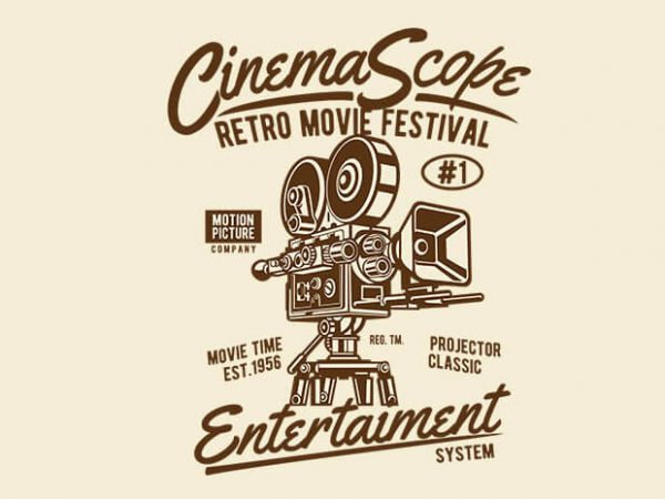 Cinema Scope 600x450 - Cinema Scope t shirt design buy t shirt design