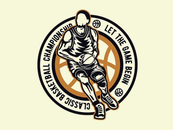 Classic Basketball 600x450 - Classic Basketball t shirt design buy t shirt design