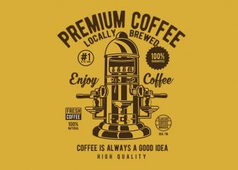 Classic Coffee Maker graphic t-shirt design