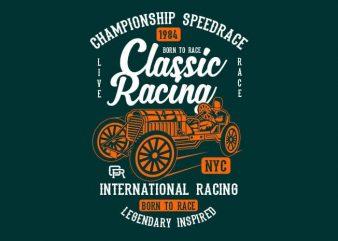 Classic Racing t shirt design
