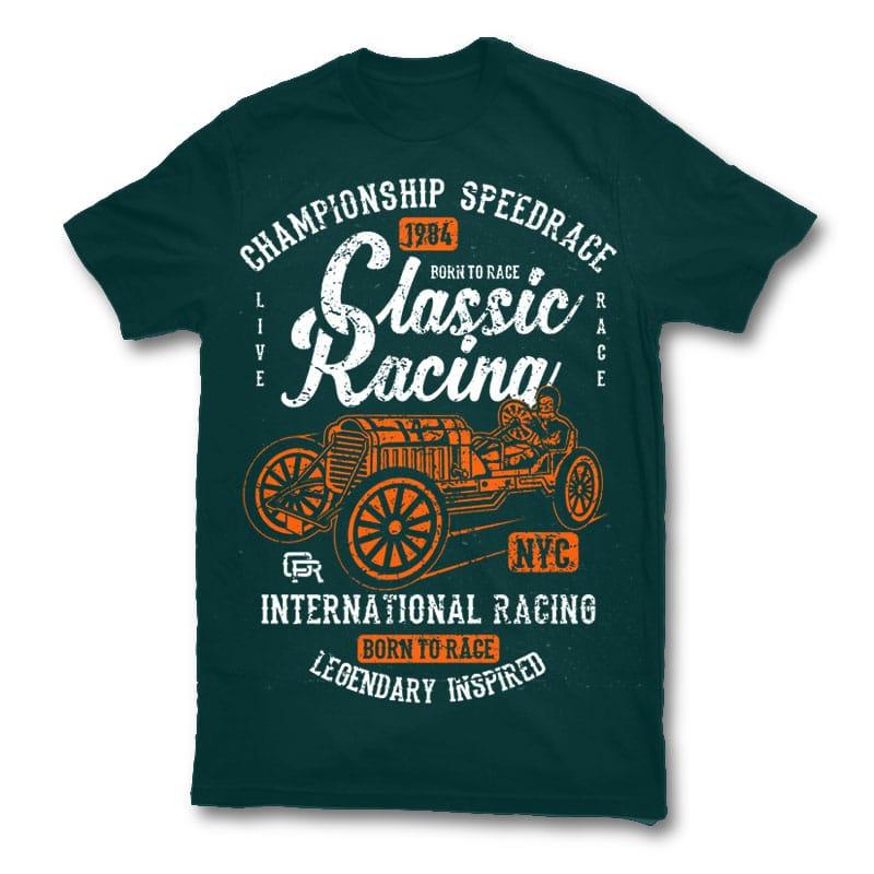 Classic racing t shirt design buy t shirt designs for Buy t shirt designs online