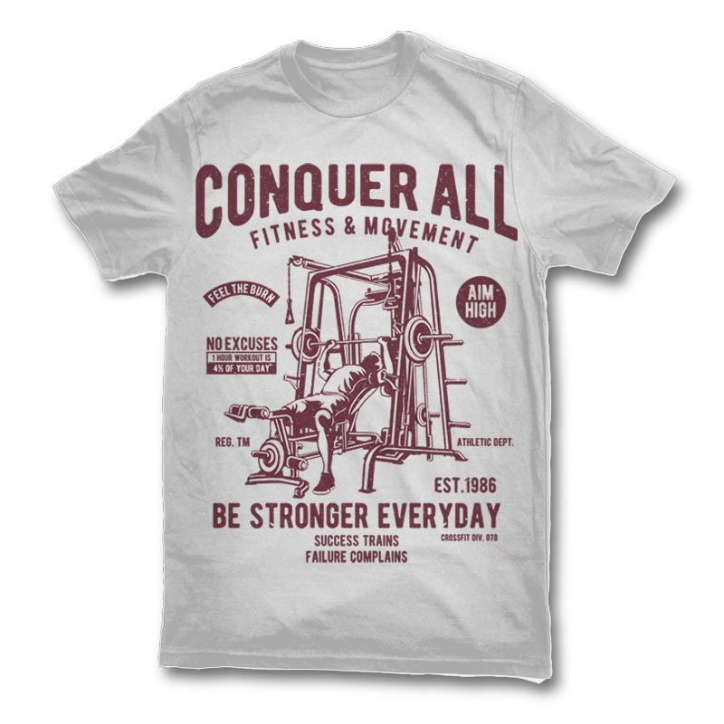 Conquer All T shirt template 23430 - Conquer All buy t shirt design
