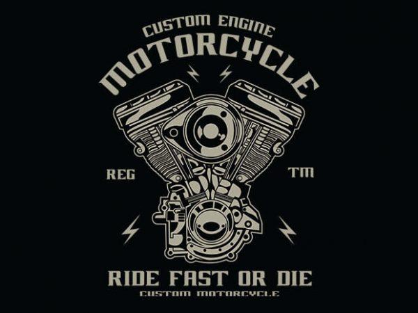Custom Engine t shirt design