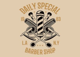 Daily Special Barber Shop t shirt design