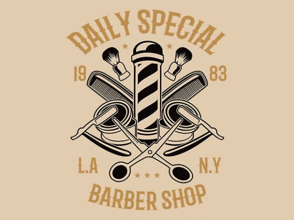 Daily Special Barber Shop 600x450 - Daily Special Barber Shop t shirt design buy t shirt design