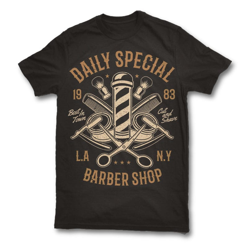 Daily Special Barber Shop Custom t shirts 23757 - Daily Special Barber Shop t shirt design buy t shirt design
