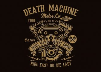 Death Machine t shirt design