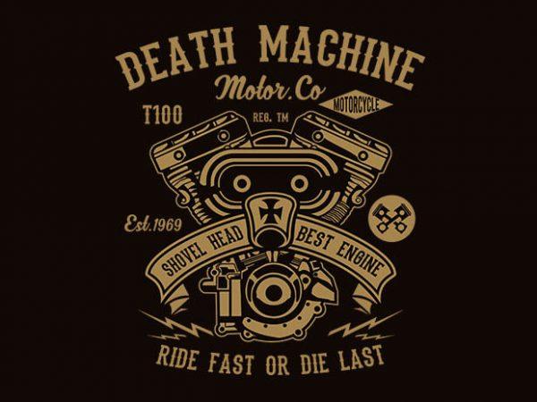 Death Machine t shirt design