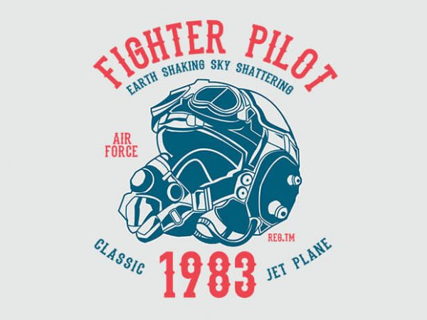 Fighter Pilot 600x450 - Fighter Pilot tshirt design buy t shirt design