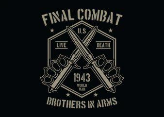 Final Combat tshirt design