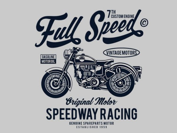 Full Speed 600x450 - Full Speed t shirt design buy t shirt design