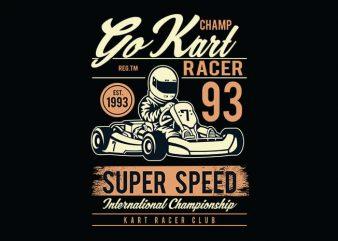 Go Kart Racer t shirt design