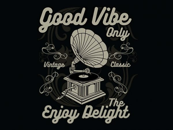 Good Vibe Only t shirt design template
