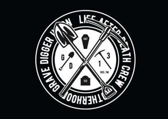 Grave Digger t shirt design