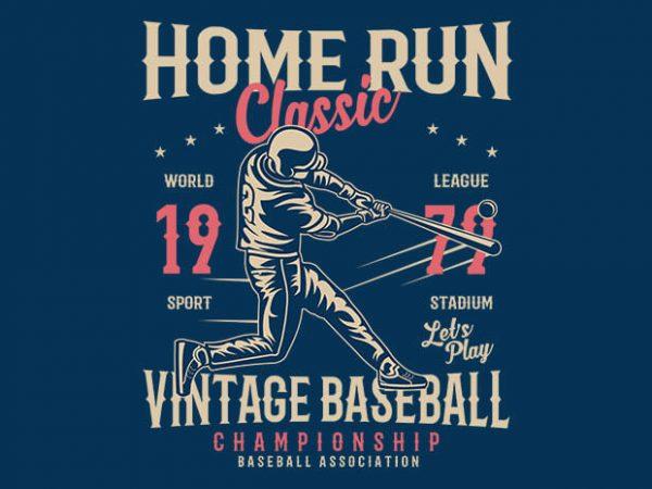 Home Run Classic t shirt design
