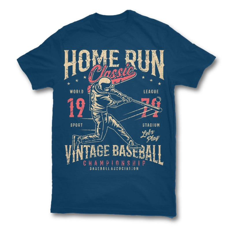 Home Run Classic Graphic Design 23577   Home Run Classic T Shirt Design Buy T  Shirt