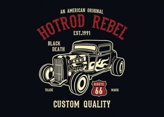Hot Rod Rebel t shirt design
