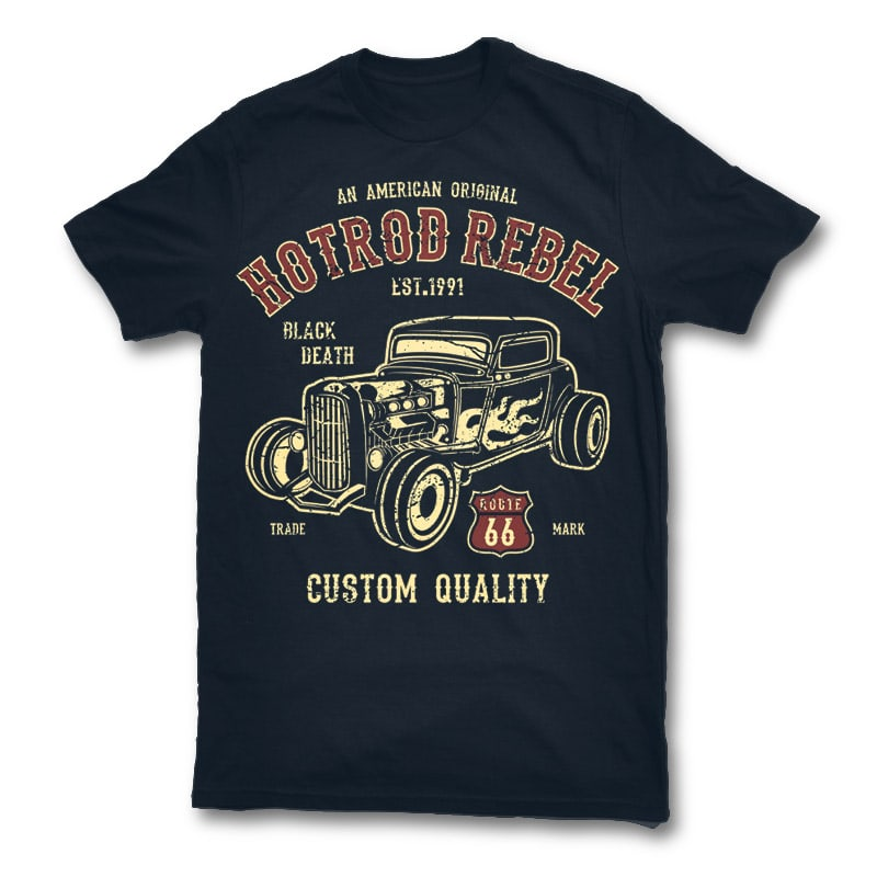 Hot rod rebel t shirt design buy t shirt designs for Buy t shirt designs online