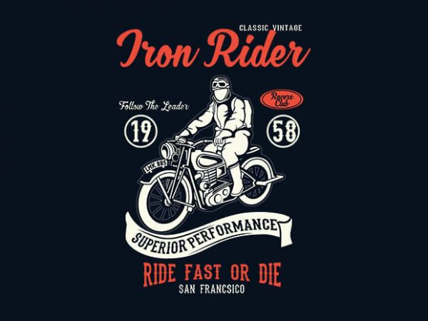 Iron Rider 600x450 - Iron Rider t shirt design buy t shirt design
