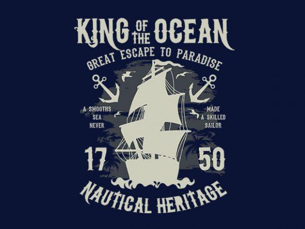 King Of The Ocean 600x450 - King Of The Ocean t shirt design buy t shirt design