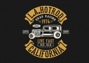 LA Hotrod t shirt design